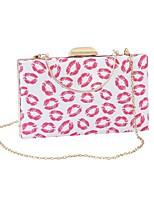 Недорогие -Жен. Цепочки PU Вечерняя сумочка Геометрический рисунок Розовый
