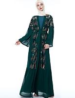 Недорогие -арабский Взрослые Жен. Косплей На каждый день Косплэй Kостюмы Арабское платье хиджаб Назначение Для вечеринок Halloween Шифон Пайетки Хэллоуин Карнавал Маскарад Платье