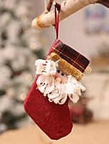Недорогие -Чулки Праздник Хлопковая ткань Мини Оригинальные Рождественские украшения