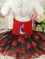 Недорогие -Собаки Платья Одежда для собак Животное Желтый Красный Розовый Полиэстер Костюм Назначение Лето Мужской Свадьба