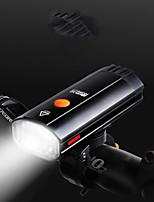 Недорогие -Светодиодная лампа Велосипедные фары Передняя фара для велосипеда LED Велоспорт Портативные USB зарядка выход 18650 600 lm Перезаряжаемая батарея Белый Велосипедный спорт / Поворот на 360° / IPX 6