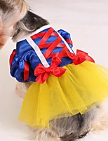 Недорогие -Собаки Коты Животные Костюмы Платья Одежда для собак Персонажи Синий Полиэстер Костюм Назначение Осень Праздник Хэллоуин