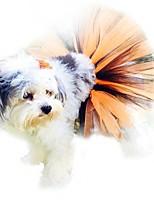 Недорогие -Собаки Коты Животные Платья Одежда для собак Тонкая прозрачная ткань Желтый Полиэстер Костюм Назначение Весна & осень Хэллоуин