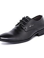 Недорогие -Муж. Комфортная обувь Полиуретан Осень На каждый день Туфли на шнуровке Нескользкий Черный