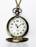 Недорогие -Муж. Карманные часы Кварцевый Старинный Бронза Творчество Новый дизайн Повседневные часы Аналого-цифровые Винтаж - Бронзовый