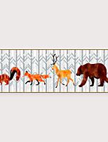 Недорогие -Отпечаток в раме Набор в раме - Абстракция Животные Полистирен Фотографии Предметы искусства