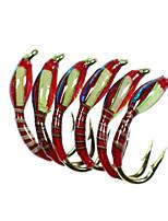 Недорогие -12 pcs Мухи Мухи Тонущие Bass Форель щука Ловля нахлыстом Обычная рыбалка Металл
