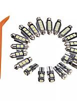 Недорогие -20шт интерьер из светодиодов гирлянда купольные светильники комплект 6000 К белый canbus бесплатно для audi a4 s4 b8 avant 2009-2015