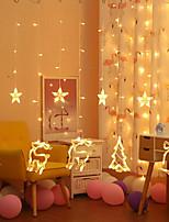 Недорогие -ес штекер мерцание звезда олень рождественская елка струна свет водонепроницаемый открытый светодиодный занавес рождественские гирлянды праздник свадебный декор