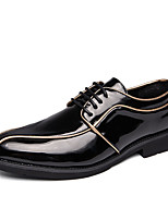 Недорогие -Муж. Комфортная обувь Полиуретан Осень На каждый день Туфли на шнуровке Нескользкий Контрастных цветов Черный / Черно-белый