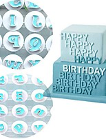 cheap -26 Uppercase Alphabet Biscuit Spring Press Mold Fondant Cake Printing Press Die Cutting Mold Baking Tool