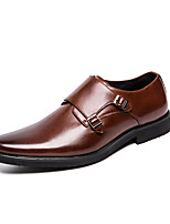 cheap -Men's Summer / Fall Classic / Casual Daily Office & Career Oxfords Faux Leather Non-slipping Wear Proof Black / Brown Gradient