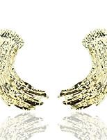 Недорогие -Жен. Серьги геометрический Представить Стиль европейский Мода Крупногабаритные Cool Серьги Бижутерия Золотой Назначение Повседневные 1 пара