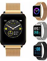 Недорогие -Смарт-часы P1 BT Поддержка фитнес-трекер уведомить / пульсометр спортивные из нержавеющей стали SmartWatch совместимые телефоны Iphone / Samsung / Android
