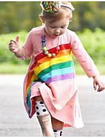 Недорогие -Дети (1-4 лет) Девочки Геометрический принт Платье Розовый