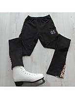 Недорогие -Брюки для фигурного катания Жен. Девочки Катание на коньках Брюки Черный Эластичная Учебный Соревнование Одежда для фигурного катания Классика Фигурное катание