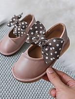 Недорогие -Девочки Детская праздничная обувь Полиуретан На плокой подошве Маленькие дети (4-7 лет) Бант Белый / Черный / Розовый Осень