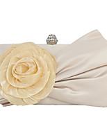 Недорогие -Жен. Цветы Шелк Вечерняя сумочка Цветочный принт Комплект поставки 2 шт. Миндальный