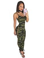 Недорогие -Жен. Классический Зеленый Комбинезоны, камуфляж С принтом S M L