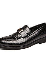 cheap -Men's Dress Shoes Microfiber Spring & Summer / Fall & Winter Casual / British Loafers & Slip-Ons Wear Proof Booties / Ankle Boots Black / Brown / Dark Red