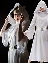 Недорогие -Вдохновлен Косплей Принцесса Лея Аниме Косплэй костюмы Японский Платья Платье Назначение Жен.