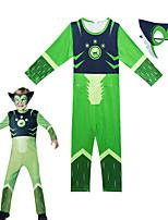 Недорогие -Дети Мальчики Уличный стиль С принтом Длинный рукав Набор одежды Зеленый
