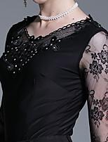 Недорогие -Бальные танцы Топы Жен. Учебный Ice Silk (искусственное волокно) Кружева / Узоры / принт Кофты