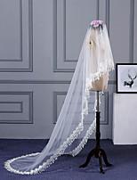 Недорогие -Один слой Простой Свадебные вуали Фата для венчания с Отделка 118,11 в (300см) Кружева / Тюль