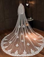 Недорогие -Два слоя Классический и неустаревающий Свадебные вуали Фата для венчания с Аппликации / Однотонные 181,1 в (460cm) Тюль