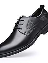 Недорогие -Муж. Кожаные ботинки Кожа Весна / Наступила зима Английский Туфли на шнуровке Нескользкий Черный / Темно-русый