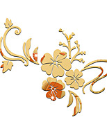 cheap -Arabesque / Floral / Botanical Wall Stickers Mirror Wall Stickers Decorative Wall Stickers, Acrylic Home Decoration Wall Decal Wall Decoration 1pc