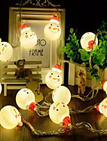 Недорогие -3м гирлянда 20 светодиодов теплый белый / RGB / белый / рождественские снеговика строка / рождественские украшения огни / вечеринка / декоративные / свадьба AAA на батарейках 1 комплект