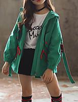 Недорогие -Дети Девочки Классический Однотонный Куртка / пальто Лиловый