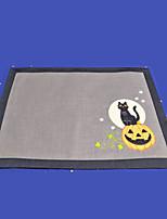 Недорогие -Мультяшная тематика полиэфирное волокно Квадратный Салфетки-подстилки Геометрический принт Halloween Настольные украшения