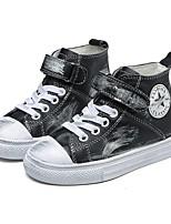 Недорогие -Мальчики / Девочки Кожа Кеды Маленькие дети (4-7 лет) Удобная обувь Черный / Белый / Розовый Осень