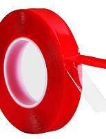 Недорогие -4 см * 3 м красный прозрачный силиконовый двусторонний скотч для автомобиля высокой прочности без следов клей наклейка модели 40 мм * 3 м