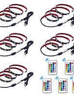 Недорогие -1m Гибкие светодиодные ленты / RGB ленты / Пульты управления 30 светодиоды SMD5050 1 пульт дистанционного управления 24Keys Разные цвета Водонепроницаемый / USB / Для вечеринок 5 V 5 шт.