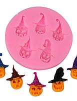 Недорогие -1 шт. Хэллоуин тыква пираты силиконовые формы торт украшения шоколад ледяной узор формы мыло выпечки инструменты