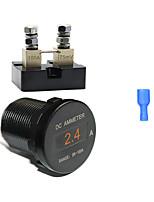 Недорогие -Универсальный мини Oled DC амперметр мониторы 0-100a 12 В / 24 В постоянного тока IP66 текущий монитор для автомобиля