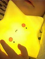 Недорогие -1шт Пентаграмма Ночные светильники / Детский ночной свет Тёплый белый Батарея с батарейкой Мультипликация / Очаровательный / Милый <=36 V