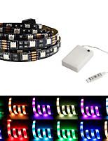 Недорогие -5 метров Гибкие светодиодные ленты / RGB ленты 150 светодиоды SMD5050 Разные цвета Водонепроницаемый / Для вечеринок / Декоративная Аккумуляторы 1 комплект / Самоклеющиеся