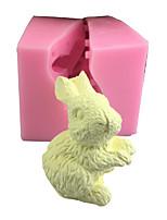 Недорогие -1 pcs3d трехмерное моделирование милый маленький кролик мыло силиконовые формы мороженое мусс торт плесень ароматерапия декоративные предметы интерьера
