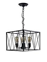 Недорогие -4-Light Подвесные лампы Рассеянное освещение Окрашенные отделки Металл 110-120Вольт / 220-240Вольт