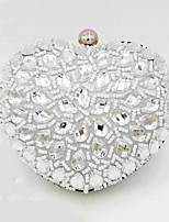 Недорогие -Жен. Кристаллы Акрил Вечерняя сумочка Сплошной цвет Серебряный