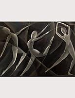 Недорогие -Hang-роспись маслом Ручная роспись - Абстракция Люди Modern Без внутренней части рамки
