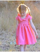 Недорогие -Дети (1-4 лет) Девочки Однотонный Платье Пурпурный