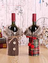 Недорогие -2cps красное вино крышка от бутылки мешки снеговик санта клаус новогоднее украшение вечеринка