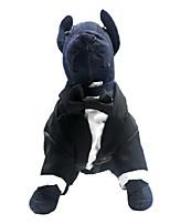 Недорогие -Собаки Коты Животные Костюм Одежда для собак Классика Черный Полиэстер Костюм Назначение Лето Классический