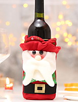 Недорогие -Мешки для вина / Рождество Праздник Ткань куб Мультипликация / Оригинальные Рождественские украшения