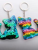 Недорогие -Брелок Кошка Животные европейский корейский Модные кольца Бижутерия Радужный / Пурпурный / Зеленый Назначение Подарок